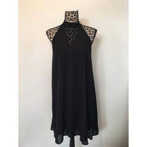 ALYA Women's Black Party Dress Size LARGE